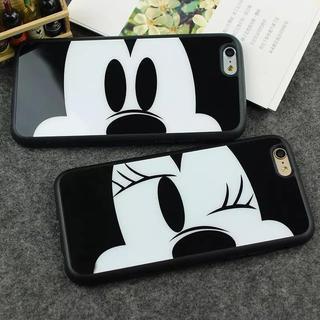 ディズニー(Disney)のミッキーiPhoneケース ミニーiPhoneケース シンプルで可愛いケース(iPhoneケース)