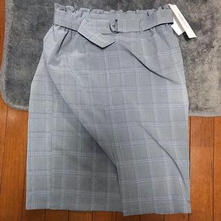 しまむら - チェックタイトスカート 大きいサイズ  3L
