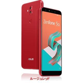 エイスース(ASUS)の新品★ASUS Zenfone 5Q レッドSIMフリー 6インチ デュアルシム(スマートフォン本体)