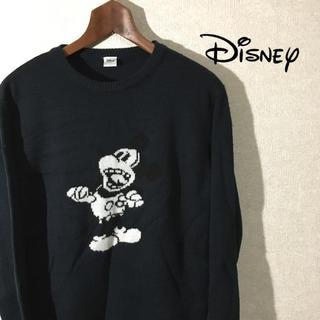 ディズニー(Disney)の【驚くミッキー】Disney ディズニー ミッキー メンズ ニット セーター(ニット/セーター)