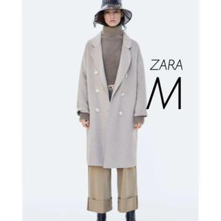ザラ(ZARA)の【新品・未使用】ZARA ダブルブレストコート M(チェスターコート)