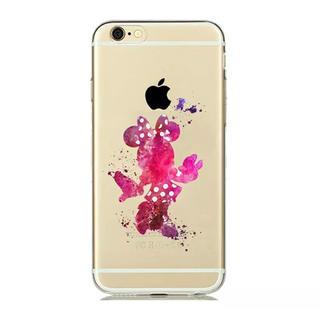 ディズニー(Disney)のiPhone ケース ♡ 水彩 ミニー(iPhoneケース)