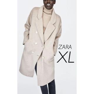 ザラ(ZARA)の【新品・未使用】ZARA ダブルブレスト コート XL(チェスターコート)