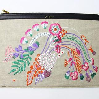 マメ(mame)のmame 17SS 刺繍 クラッチバッグ 新品 定価32400円(クラッチバッグ)