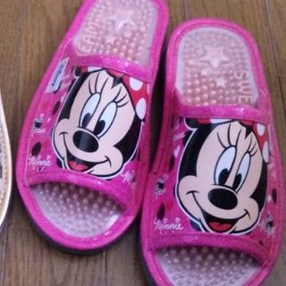 ディズニー(Disney)のミッキー&ミニー スリッパ size:M(スリッパ/ルームシューズ)