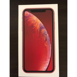アップル(Apple)のiPhoneXR 64G レッド simフリー(スマートフォン本体)