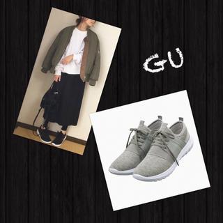 ジーユー(GU)のGU✨人気完売❗️新品・未使用 スポーツスニーカー スニーカー グレー(スニーカー)