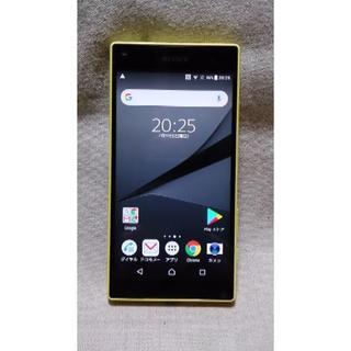 エクスペリア(Xperia)の【難あり】Xperia Z5 Compact SO-02H Yellow(スマートフォン本体)
