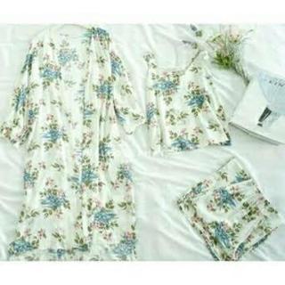 花柄ルームウェア パジャマ 3点セット(ルームウェア)