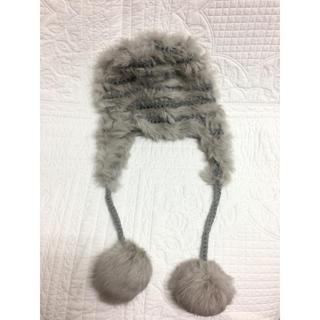 エルディーエス(LDS)の可愛いふわふわアンゴラ ニット帽  キャップ 帽子 (ニット帽/ビーニー)