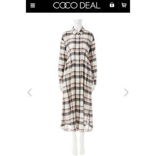 ココディール(COCO DEAL)の先染めチェックシャツ (ロングワンピース/マキシワンピース)