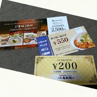 株主優待券セット(レストラン/食事券)