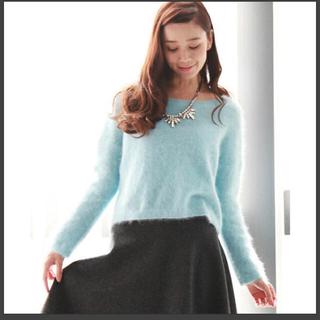 ティアラ(tiara)のTiara♡アンゴラミンクプチセーター♡ライトブルー(ニット/セーター)