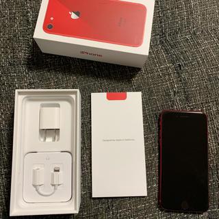 アイフォーン(iPhone)のiPhone8 docomo 赤 64G △ (スマートフォン本体)