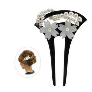 かんざし パール 簪 バチ型 簪 パール 和装 髪飾り(和装小物)