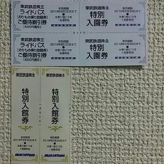 東武動物公園無料入場券2枚オマケあり🔷東武博物館無料入館券2枚(動物園)