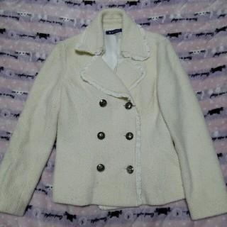 エムズグレイシー(M'S GRACY)のエムズグレイシー  ホワイト ジャケットコート(テーラードジャケット)