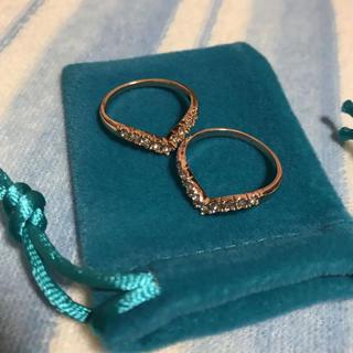 ダイヤモンドVリング(リング(指輪))