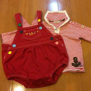ミキハウス(mikihouse)のミキハウス ダルマオール  とセーラー襟のシャツセット(カバーオール)