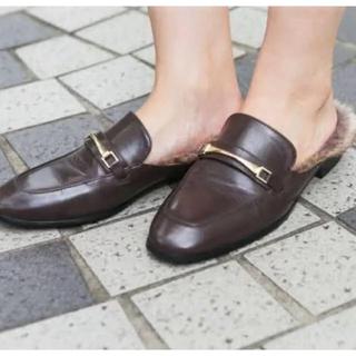 ジーユー(GU)のGU ローファー フェイクファー(ローファー/革靴)