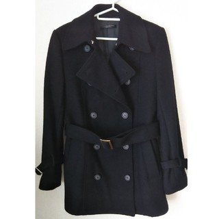 ノービーンズ(KNOW BEANS)のKNOW BEANS ノウビーンズ コート ブラック 黒 ベルト付き(その他)