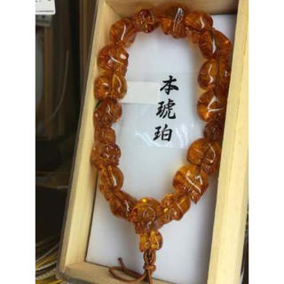 琥珀数珠(ブレスレット)