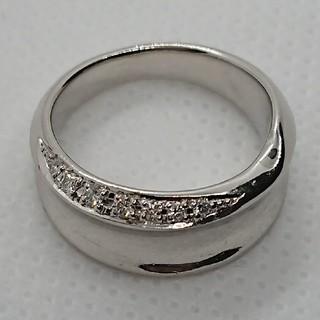 ニワカ(俄)の俄 pt900 ダイヤモンドリング(リング(指輪))