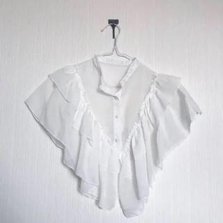 ☆ブラウス シースルー ケープ 付け襟 白(つけ襟)