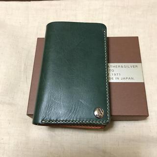 専用 レザー&シルバー moto  財布 未使用品(折り財布)