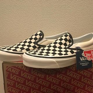 ヴァンズ(VANS)の日本未発売 vans アナハイムファクトリー チェッカーフラッグ(スニーカー)