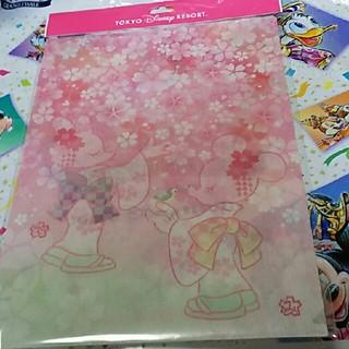 ディズニー(Disney)のディズニー 桜モチーフ クリアホルダー(クリアファイル)