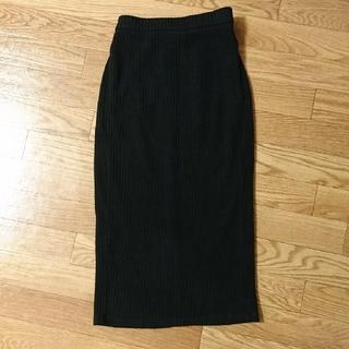 ジーユー(GU)のGU ジーユー☆着用2回☆ニット ミドル丈スカート S(ロングスカート)