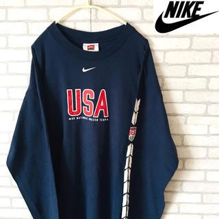ナイキ(NIKE)のNIKE ナイキ サッカー ロンT Tシャツ 長袖 メンズ USA トレンド(Tシャツ/カットソー(七分/長袖))