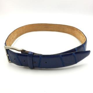ダニエルクレミュ(DANIEL CREMIEUX)のダニエルクレミュ メンズ ベルト ブルー 青 本革 ファッション(ベルト)