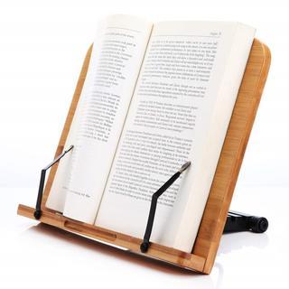 ブックスタンド 筆記台 書見台 本立て 6段階調整 竹製(学習机)