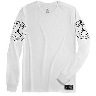 ナイキ(NIKE)のNIKE JORDAN PSG STMT LS ロングTシャツ ホワイト/ナイキ(Tシャツ/カットソー(七分/長袖))