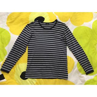 マリメッコ(marimekko)のmarimekko ボーダーカットソー(Tシャツ/カットソー(七分/長袖))