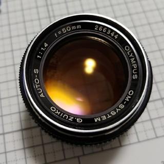 オリンパス(OLYMPUS)の実用可能ジャンク olympus om 50mm f1.4(レンズ(単焦点))