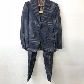 エトロ(ETRO)の美品 ETRO エトロ メンズ セットアップ スーツ 紺 ストライプ(セットアップ)