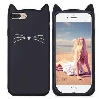 【大人気】 iPhone7 ケース♡可愛い黒猫♡ シリコンカバー(iPhoneケース)