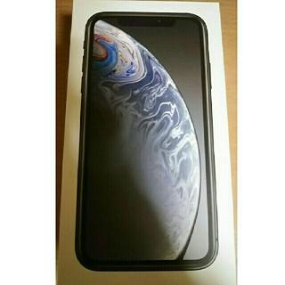 アイフォーン(iPhone)のiphoneXR 黒 64GB 新品同様(スマートフォン本体)