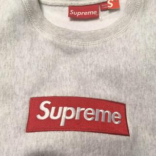 シュプリーム(Supreme)のグレーS Supreme Box logo crewneck(スウェット)