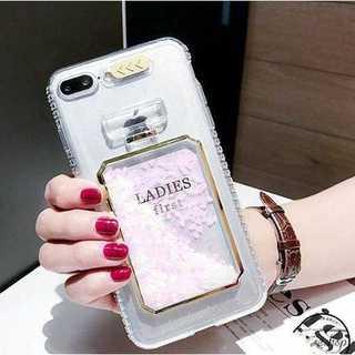 香水瓶の中でラメが流れる iPhone7ケース(iPhoneケース)