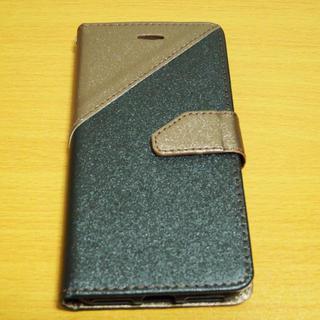 【新品】iPhone7/8兼用 手帳型 金茶/黒(iPhoneケース)