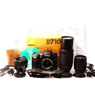標準&超望遠300mm&単焦点 ニコン D7100 トリプルレンズセット(デジタル一眼)