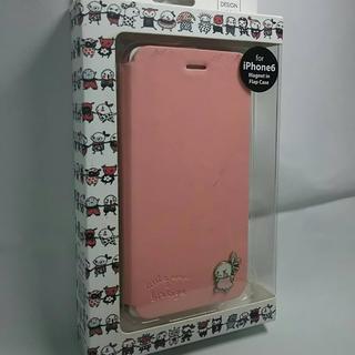 iPhone6 iPhone6s PUレザー手帳型 カバー 新品 横開き ピンク(iPhoneケース)