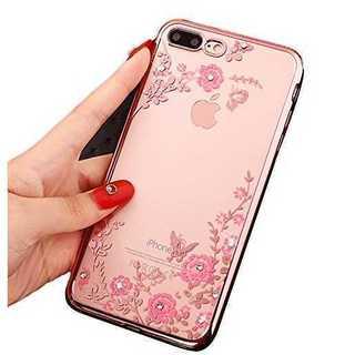 【送料無料】 iPhone6/6s用 花びらクリアケース(ローズゴールド)(iPhoneケース)