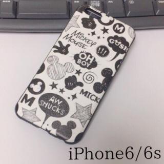 【iPhone6/6s】ミッキーマウス*ステッカー風 TPU【新品】(iPhoneケース)
