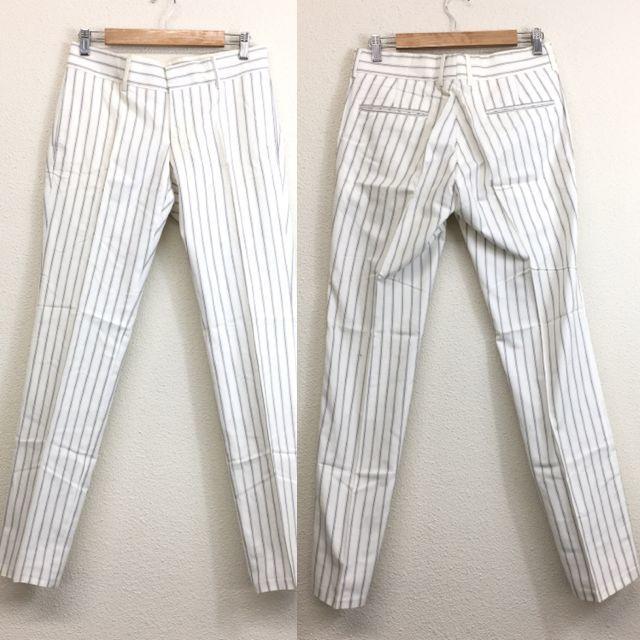 Gucci(グッチ)のGUCCI グッチ メンズ パンツ 白 ホワイト ストライプ 46 S メンズのパンツ(スラックス)の商品写真