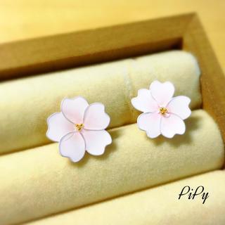 春の訪れ❀桜のポストピアス(ピアス)